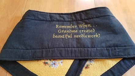 Back of the memory table runner with