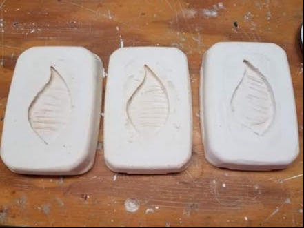 3 of the palm molds