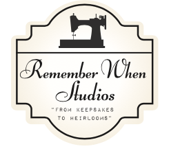 logo with vintage sewing machine